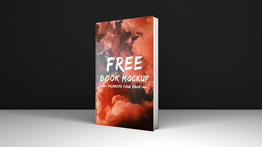 dark minimal book mockup
